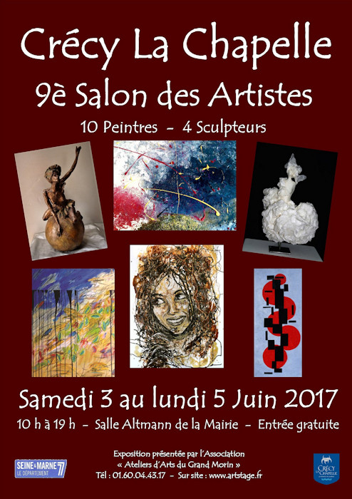 Affiche 9e Salon des artistes professionnels de Crecy la Chapelle, Christophe Alzetto, ChrisAlz